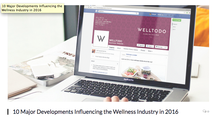 Reflecting on how the Wellness Industry evolved in 2016