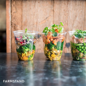 Layered salad pots
