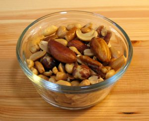 A bowl of mixed nuts.