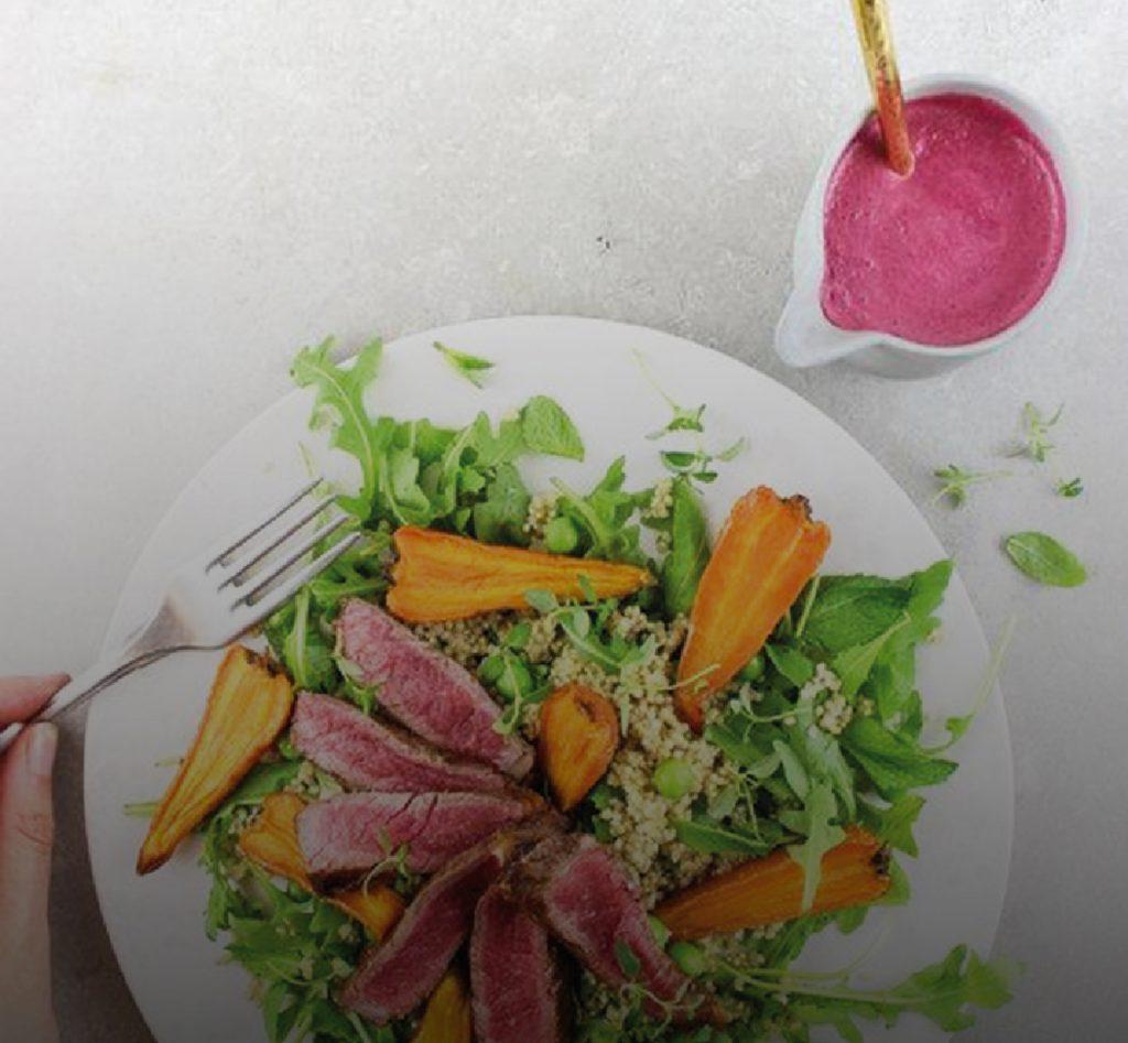Recipe of the Week: Bavette Steak and Roast Carrot Salad by Pollen + Grace
