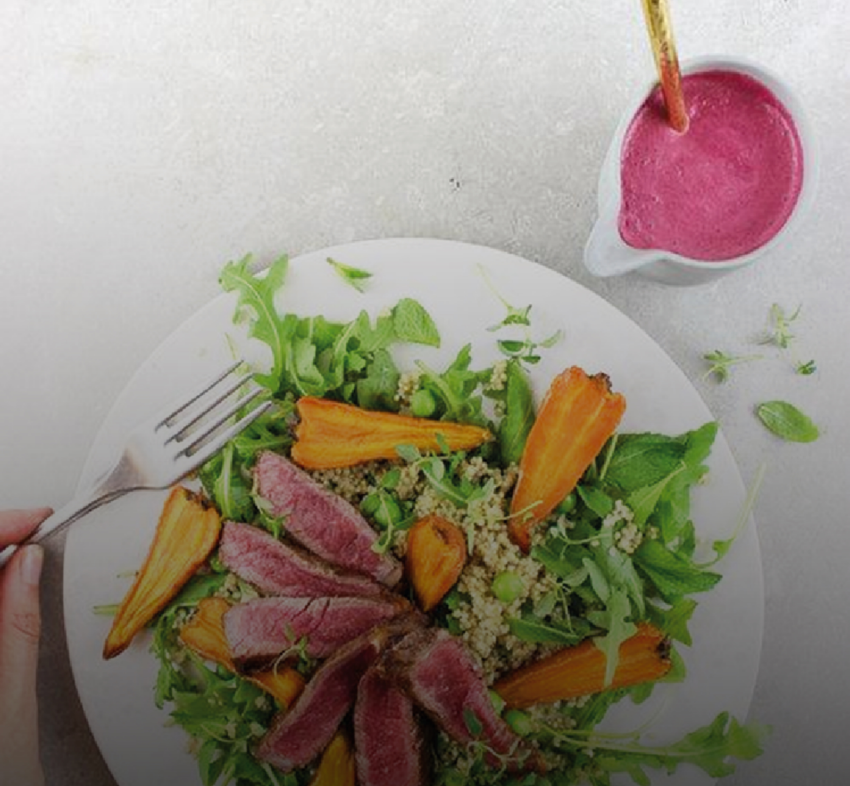 Recipe of the Week: Bavette Steak and Roast Carrot Salad by Pollen + Grace