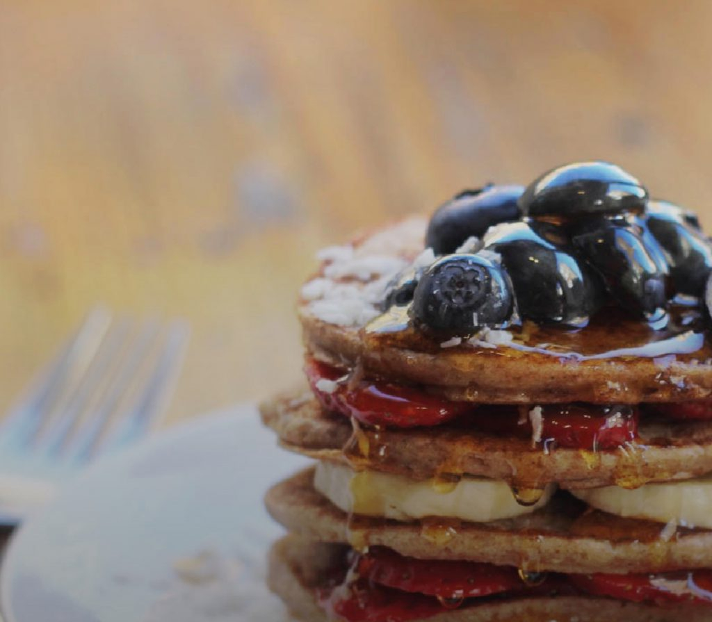 Recipe of the Week: Vegan Spelt Flour Pancakes by Roots Juicery