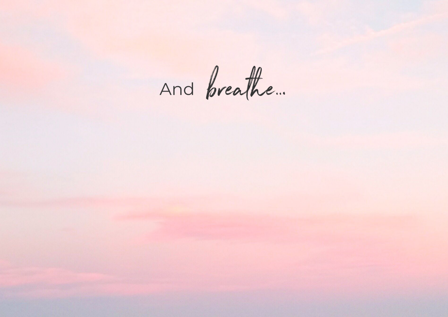Let's Talk About Breathing…