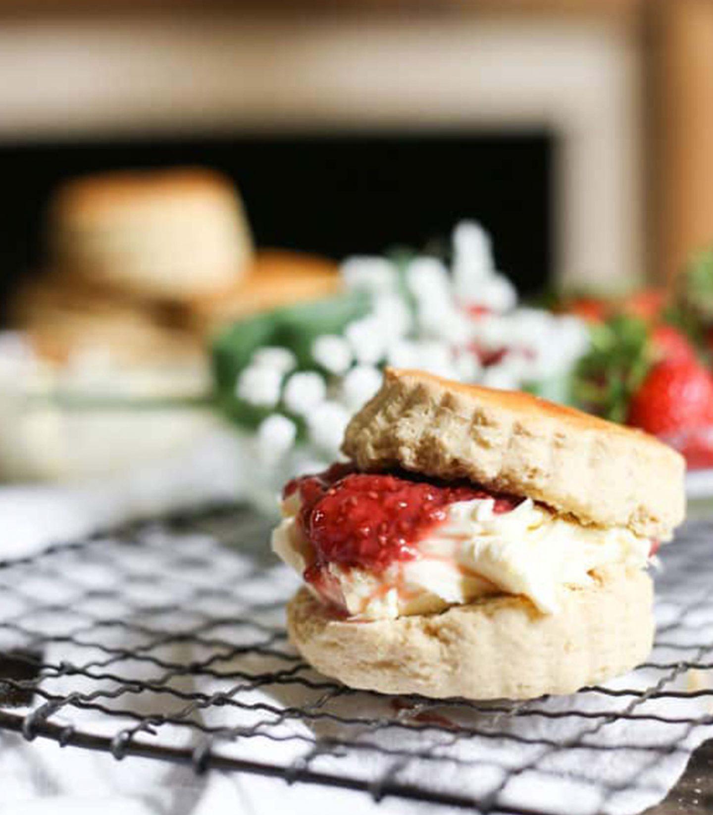 Strawberry & Cream Scones