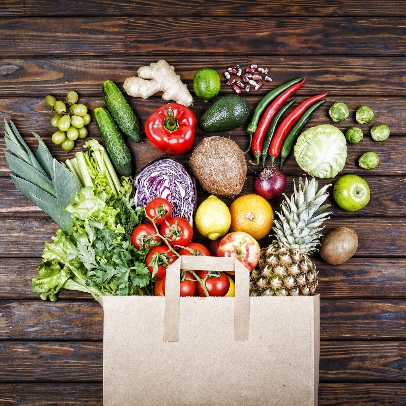 food background, Healthy food, bag, gastronomy, healthylifestyle, dieting, provision,