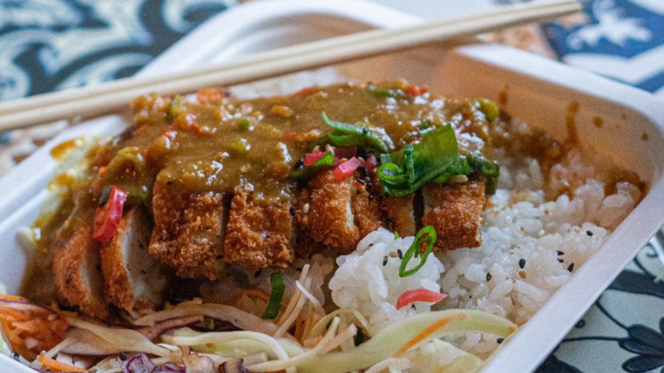 Heathy katsu curry meal from Rainbo