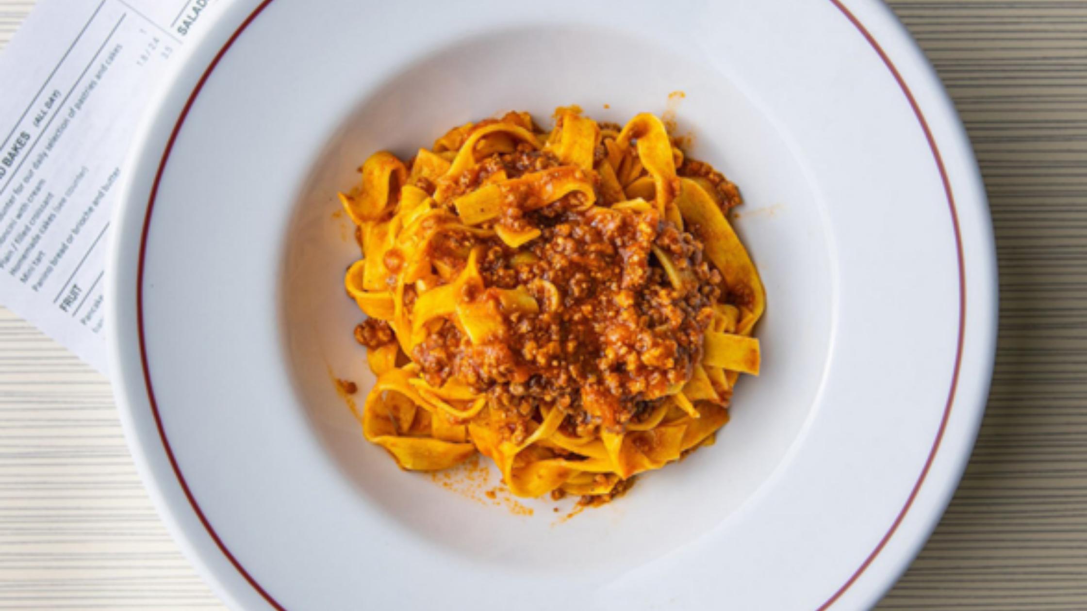 Heathy pasta meal from Latteria